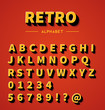 Retro 3d alphabet with shadow - 76826654