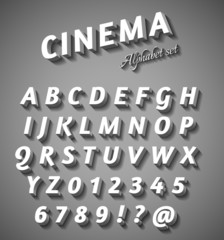Cinema style characters set