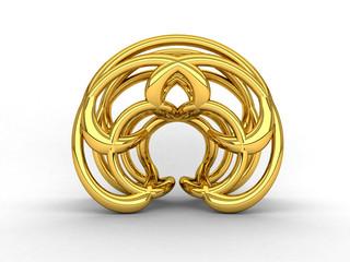 Logo circolare - astratto - oro