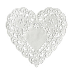 Heart paper isolated on white background