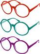 occhiali tondi colorati