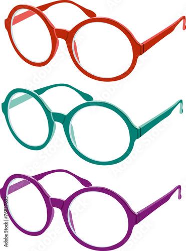 occhiali tondi colorati - 76827635