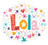 Lola female name decorative lettering type design