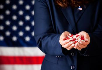 Politician: Handful of Medicine Capsules