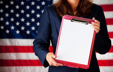 Politician: Clipboard with Blank Paper