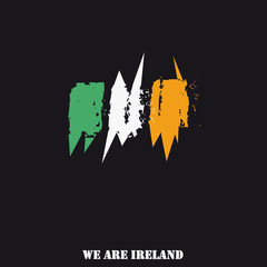 Ireland Flag Hand Drawn With Text We Are Ireland
