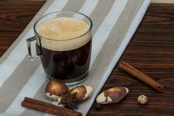 Coffee with seastyle chocolate