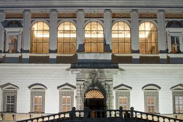 Main entrance of Palazzo Farnese in Caprarola, Italy