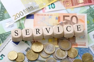 Service / Geld / Konzept