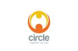 Abstract union circle shape Logo design vector template - 76830697