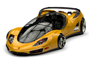 future car yellow front view