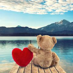Teddybär am See