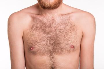 Hairy man chest