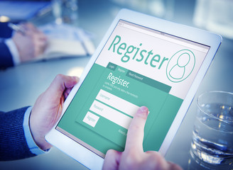 Register Membership Application Registration Join Office Concept