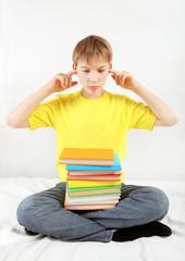 Sad Teenager with a Books