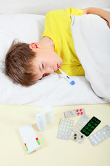 Sick Kid in the Bed