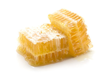Honeycomb on white background