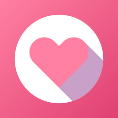 Pink Abstract Heart Sign