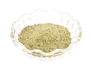 Balsamic Vinegar Seasoning In A Glass Bowl Side View