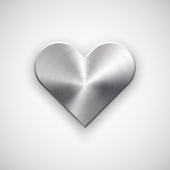 Abstract Heart Sign with Metal Texture