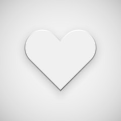 White Abstract Heart Sign