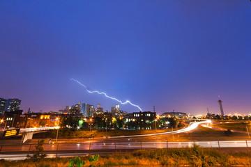 Lightning Strike Over Denver