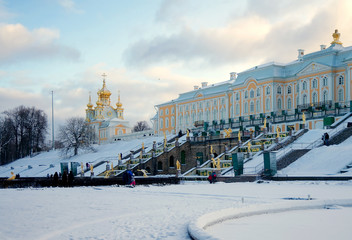 Peterhof Grand Palace (1715-1755) and Grand Cascade (1721-1721)