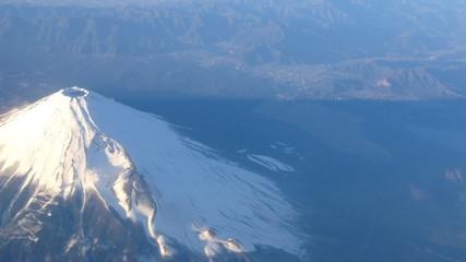 Aerial View of Mt Fuji