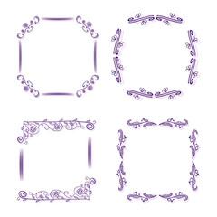 ornamental frames for design and scrapbooking