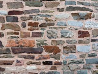 Mauer aus Schiefergestein in Aachen, Detail