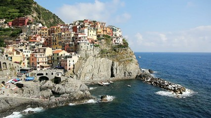 Manorola is one of five famous colorful villages of Cinque Terre