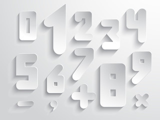 Simple form number and sign set