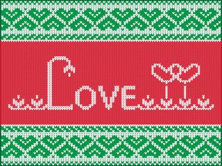 Knitting love card