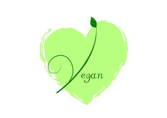 Vegan - Herz - Veganer