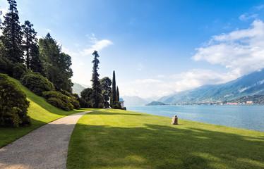 Scenic view of the gardens of Villa Melzi, Bellagio, Lake Como