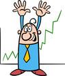 economic growth cartoon illustration