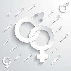 Gender Sign Background
