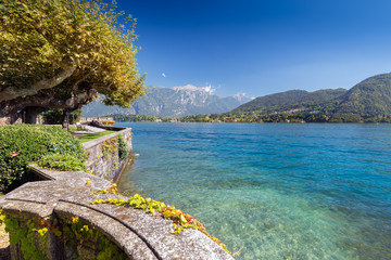 Beautiful park along the coast of Lake Como