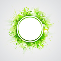 Green abstract round background