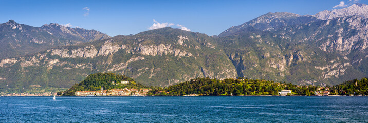 Bellagio peninsula seen from Mennagio across Lake Como