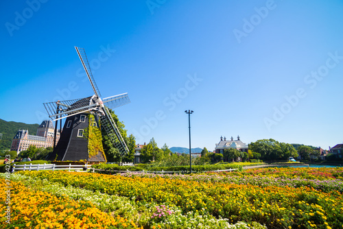 Windmill at Huis Ten Bosch, Japan - 76842823