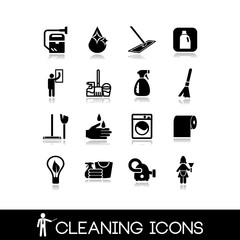 Cleaning icons set 4