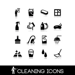 Cleaning icons set 5