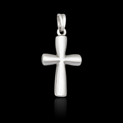 Silver pendant in the shape of a cross