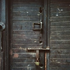 Old black door