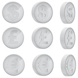 Fototapety Coin in different angles