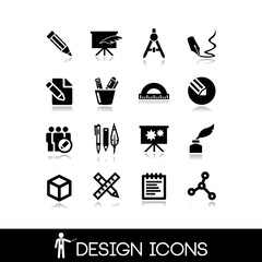 Graphic design icons set 4