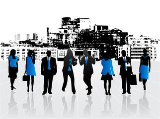 Illustration of blue team