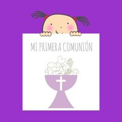 MI PRIMERA COMUNIÓN NIÑA