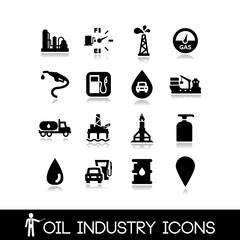 Oil Industry Icons Set 3